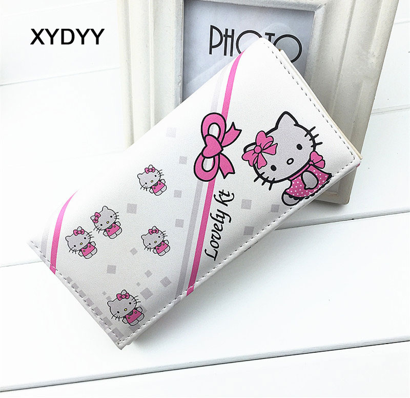 I Love Kitty Women PU Leather Wallet Clutch Purses Lady Party Wallet Card Holder Cartoon Cat Many Cards Slot Wallet For Women 2008 donruss sports legends 114 hope solo women s soccer cards rookie card