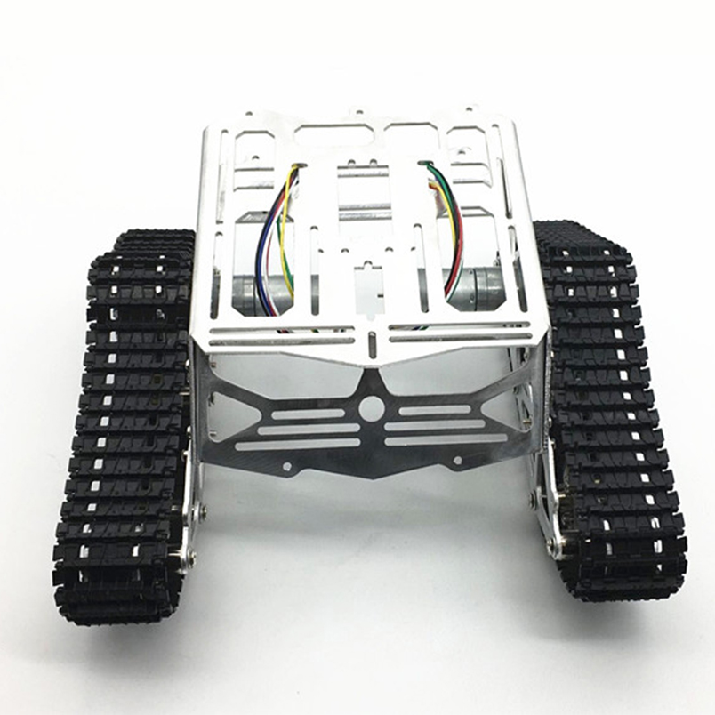 DIY Tracked Robot CNC Aluminum alloy Chassis Intelligence Car Platform with Dual DC Motor with Encoder for Robot DIY Tracked Robot CNC Aluminum alloy Chassis Intelligence Car Platform with Dual DC Motor with Encoder for Robot