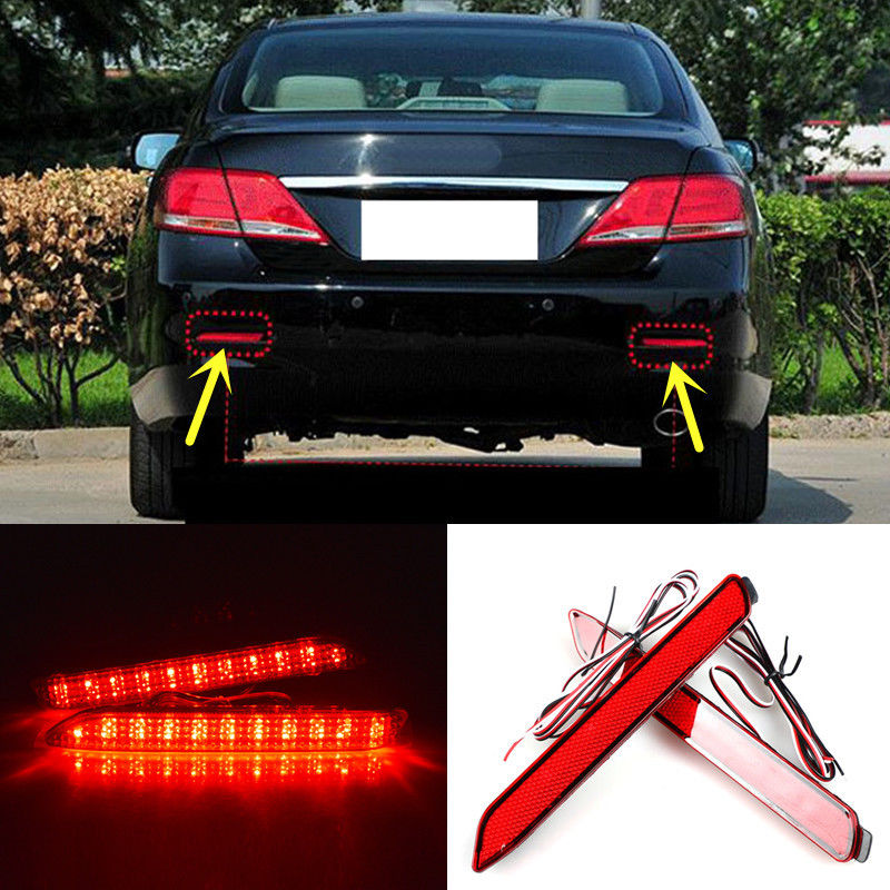 CYAN SOIL BAY 39 LED Turn Signal DRL for TOYATA Camry 2006 2014 For Matrix Base L 2009 2012 3 In 1 Rear Brake Light with 4 lines