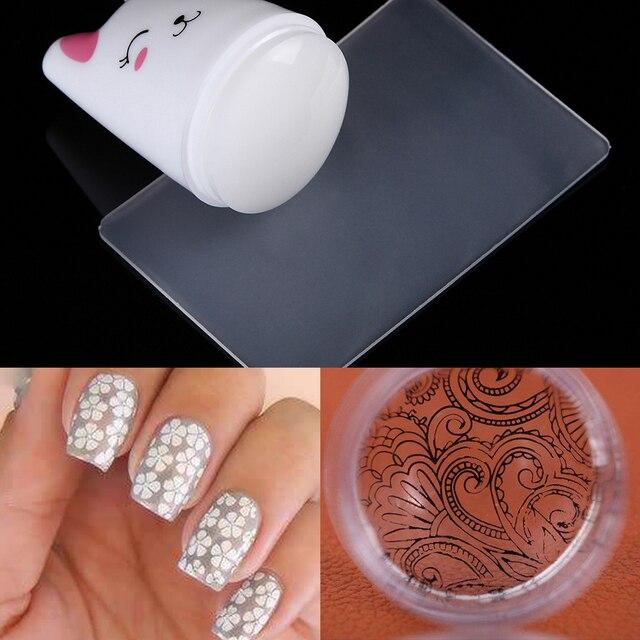 1 Pc Nail Art Stamper Stamper Com Tampa De Silicone Gelia Clara