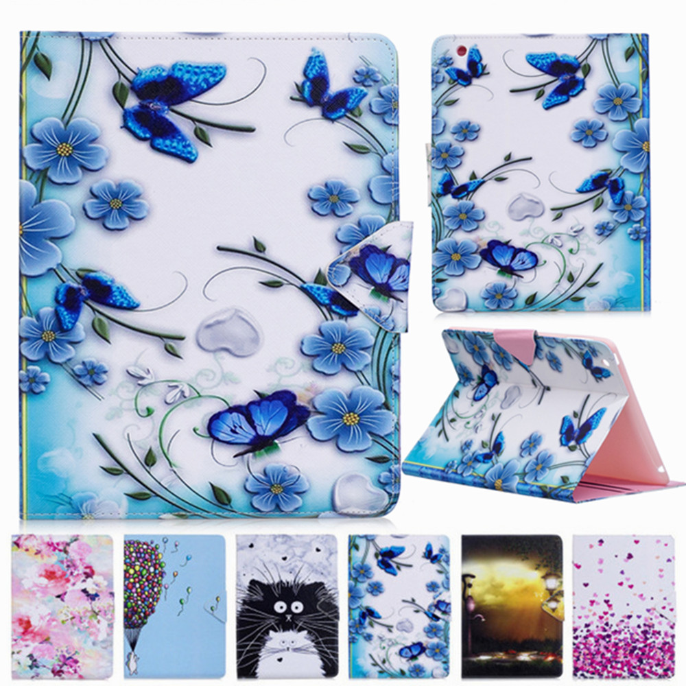 Butterfly Beauty Love Heart PU Leather Flip Case For Apple Ipad Air Ipad 5