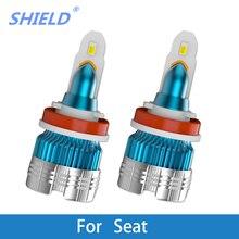 2 предмета светодиодный фар автомобиля H4 светодиодный H1 H3 H7 9005 9006 Авто фары 6000 k 12 V для сиденье Ibiza Leon Altea Toledo Arosa