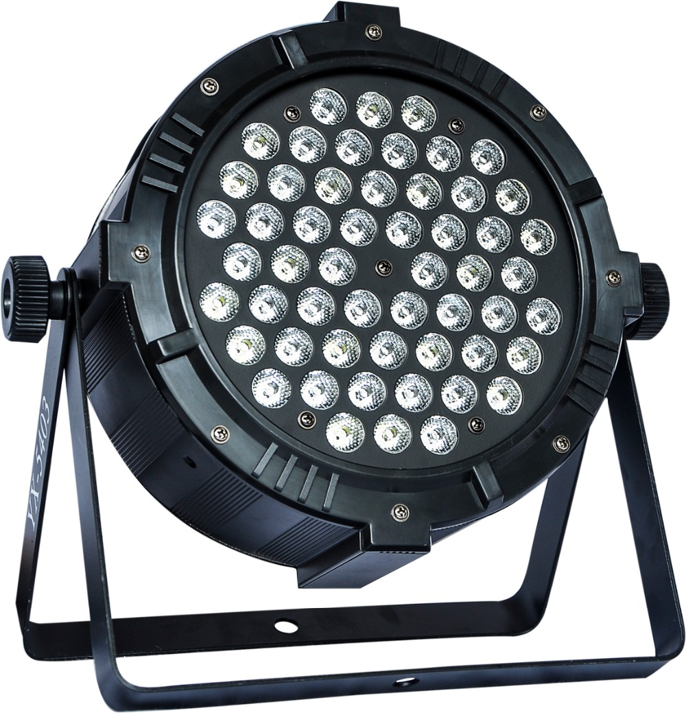 54x3W Aluminium Slim Theater Stage Lights with dmx512 LED Flat Par Light DJ Led Beam Wash Strobe Effect Event Wedding Disco Show niugul led par light rgbw 54x3w stage light ktv dj disco lighting dmx512 strobe party wedding event holiday lights wash effect