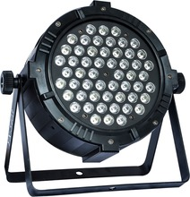 High Power 6/lot 54*3W  stage lights led par quad wash dmx light american dj rgbw 4in1 flat no noise