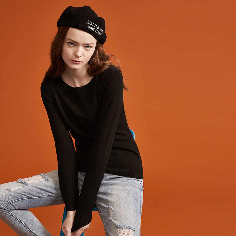 Toyouth mujeres suéteres sólido Delgado suéter para mujeres Casual cuello redondo pulóveres primavera otoño Mujer Tops Pull Femme