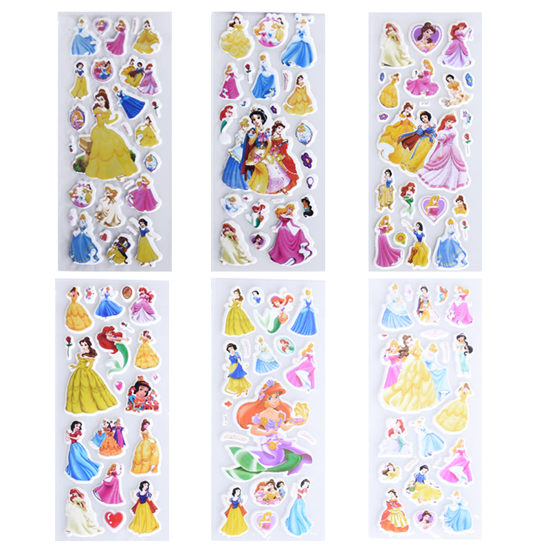 6 Sheets/set Cartoon Snow White Cute Stickers For Kids Rooms Home Decor Diary Notebook Label Decoration Toy Princess 3d Sticker Fixing Prices According To Quality Of Products