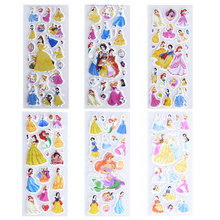 6 Sheets set cartoon Snow White cute stickers for kids rooms Home decor Diary Notebook Label