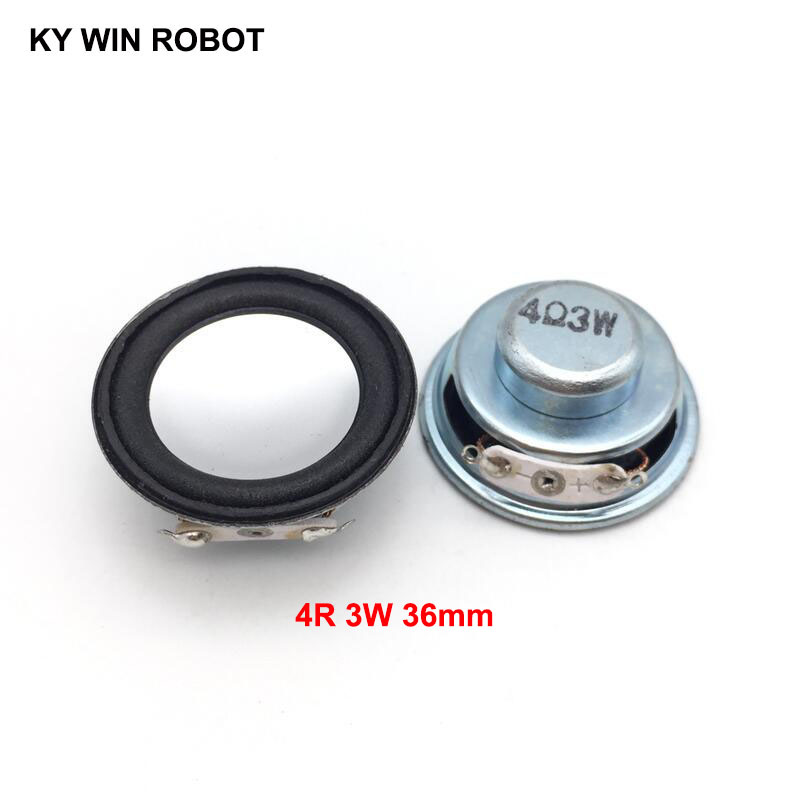 2PCS/Lot High Quality Speaker Horn 3W 4R Diameter 3.6CM 36MM Mini Amplifier Rubber Gasket Loudspeaker Trumpet Thickness 17MM