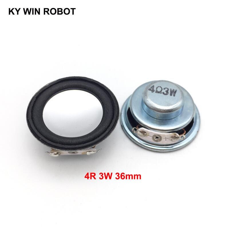 2PCS/Lot High Quality Speaker Horn 3W 4R Diameter 3.6CM 36MM Mini Amplifier Rubber Gasket Loudspeaker Trumpet Thickness 17MM