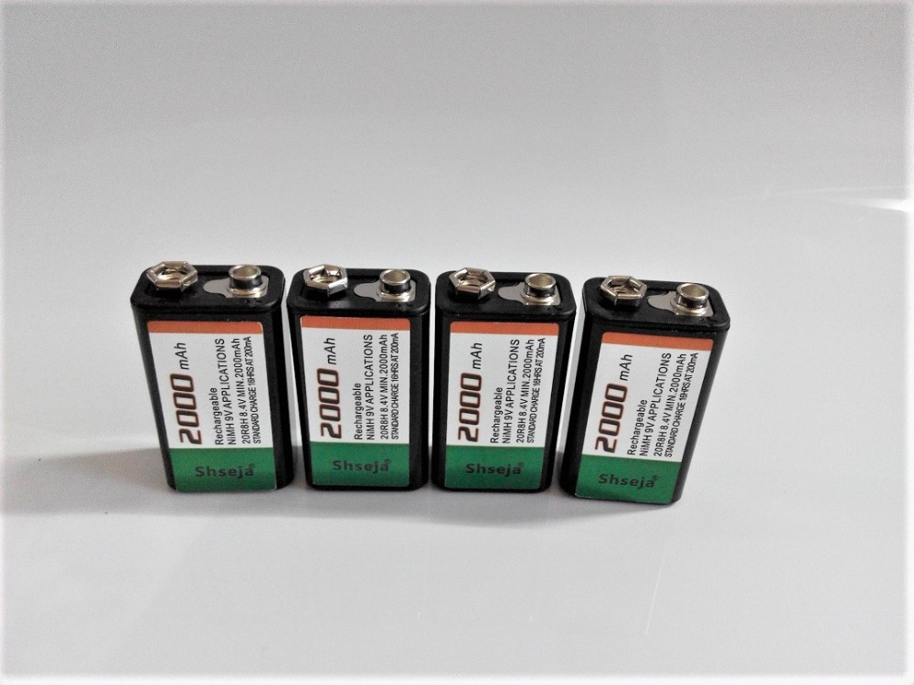 4pcs/lot 2000mAh 9V rechargeable battery 9 volt Ni MH battery for Microphone-in Replacement Batteries from Consumer Electronics on AliExpress - 11.11_Double 11_Singles' Day 1