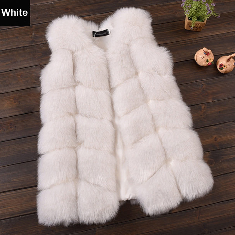 Fashion Long Style Fox Fur Girls Vest Thick Warm Waistcoat Baby Girls Faux Fur Jackets Coats Winter Kids Outerwear Coat 2-12Yrs winter fashion kids girls raccoon fur coat baby fur coats
