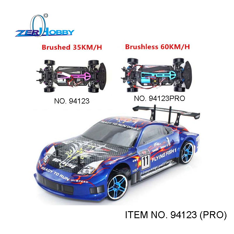 HSP Rc Car 1/10 Electric Power 4wd On Road Rc Drift Car Brushless Racing FlyingFish 94123PRO High Speed Hobby Remote Control Car стоимость