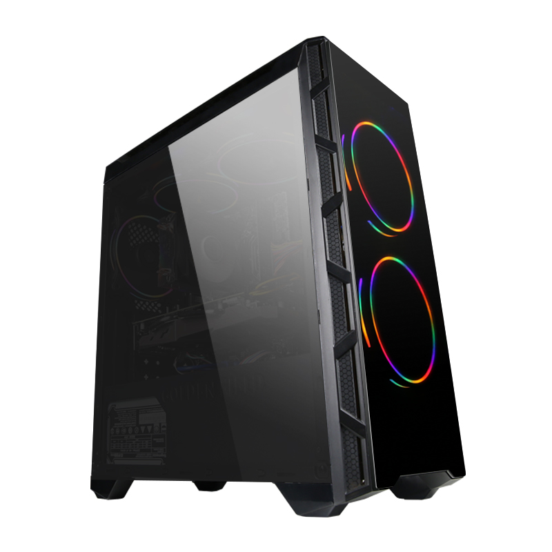 GETWORTH T24 Gaming PC Desktop Computer AMD Processor Ryzen5 2600 Water Cooler Liquid Cooling GTX1060 5G  120G SSD Black A320