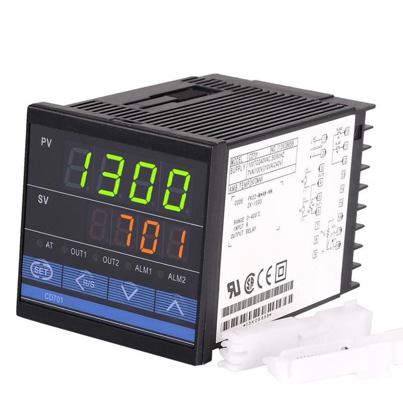 CD701 72*72mm Digital PID Temperature Control Thermocontroller Thermostat Regulator,Input sensor thermocouple K, Relay Output