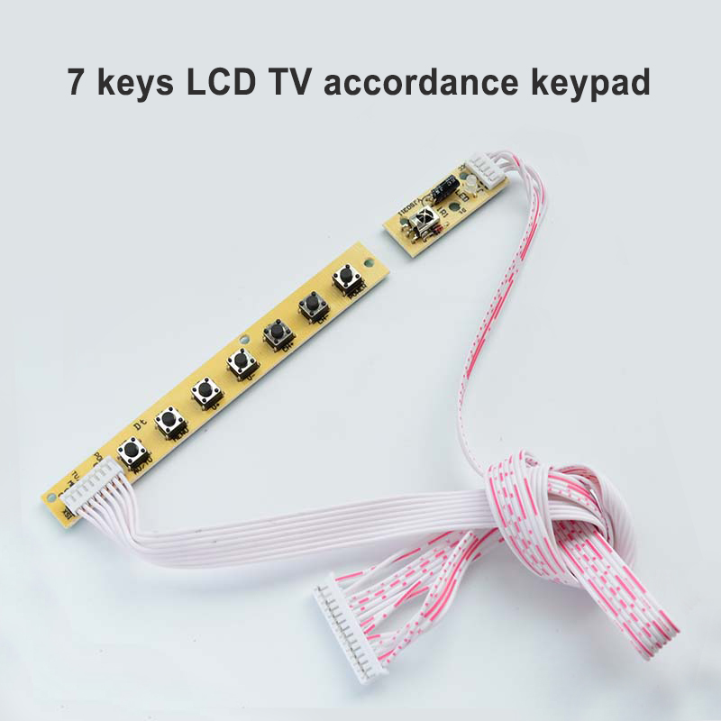 7 Universal Keyboard V29 V56 V59 IR To LCD TV Card Compliance Environmental QT526C