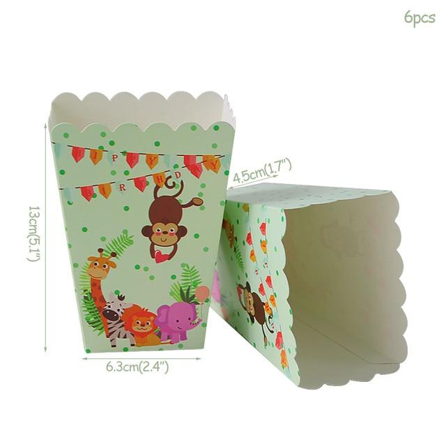 6pcs popcorn box