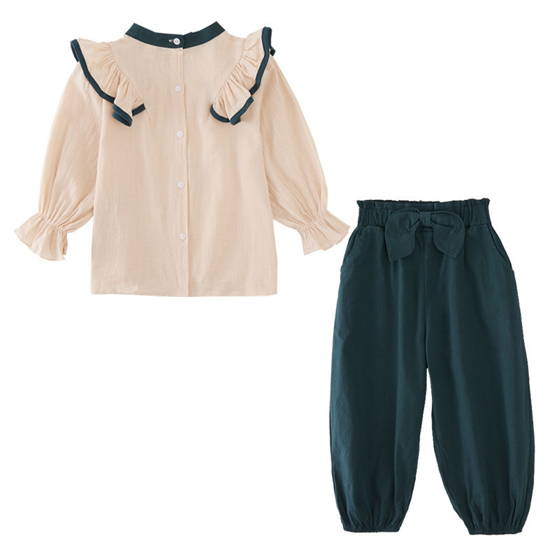 Image 3 - 2020 New Girls Clothes Autumn Girls Clothing Sets Kids Girls 2pcs  Suits Kids Clothes for Girls Blouses Shirts   Pants 8 10 12 14Clothing  Sets