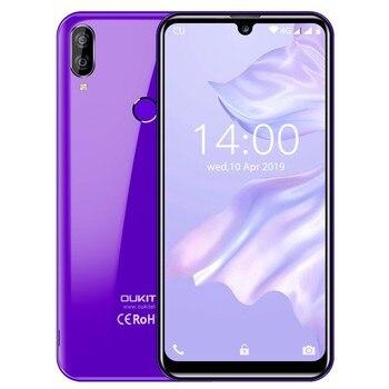 Перейти на Алиэкспресс и купить Смартфон OUKITEL C16 Pro LTE, 4G, MTK6761P, четырехъядерный, экран 5,71 дюйма Waterdrop, 19:9, сканер отпечатка пальца, 2600 мАч, мобильный телефон с распознаванием ли...