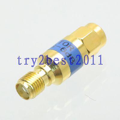 SMA plug Attenuator to Jack pin 2W 6dB DC-6.0GHZ 50 coaxial Power RF Gold