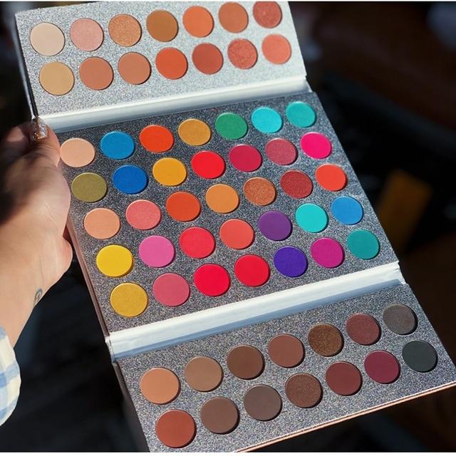 Beauty Glazed 63 Colors Fashion Eyeshadow Palette Matte Glitter Eye Shadow Makeup Nude Shinning Shadow Pigment Makeup Sombra