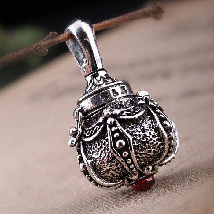 все цены на Thai Silver Silver Crown Couple Pendant Wishing Bottle Honk Black Box Can Be Opened онлайн