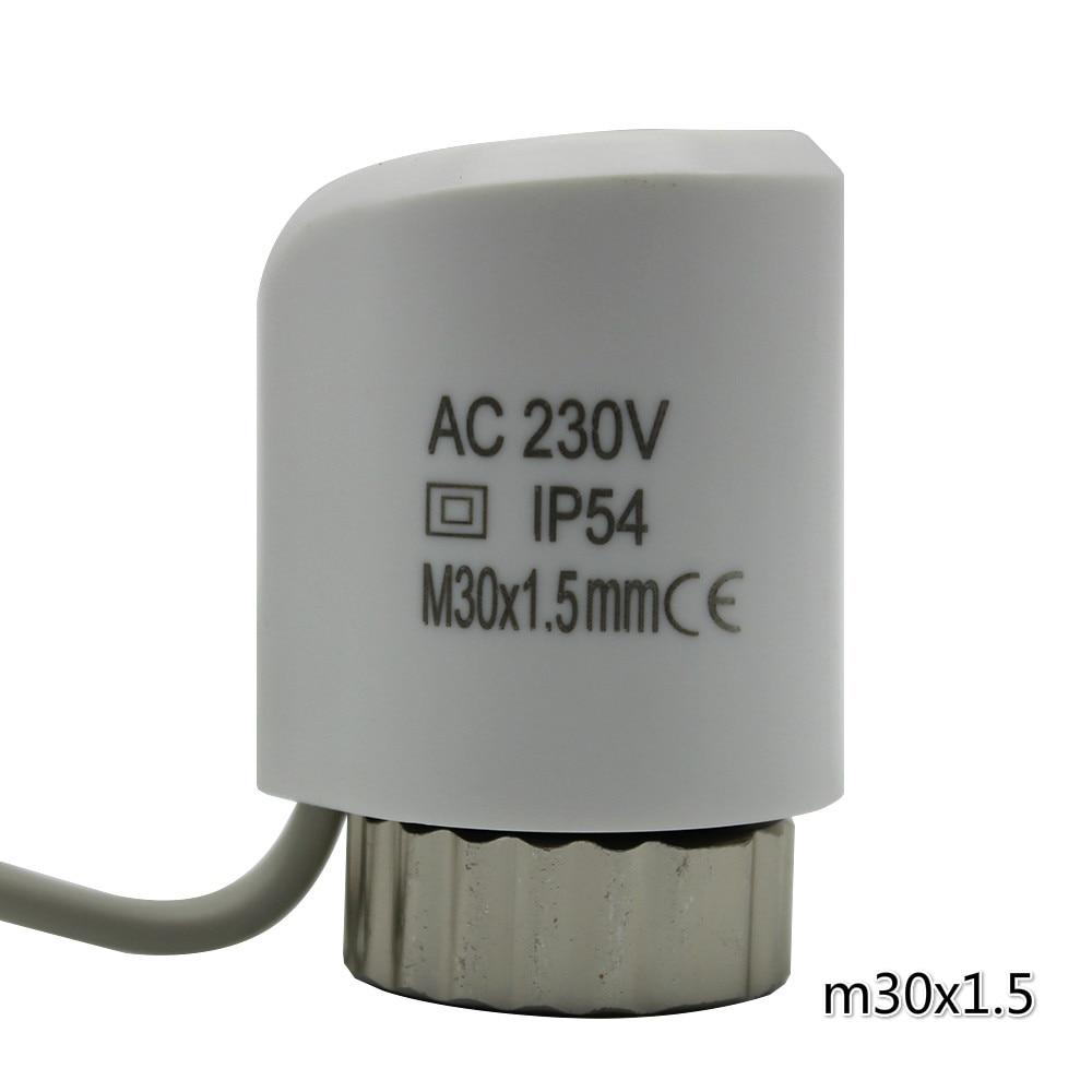 Bianco normalmente aperto normalmente chiuso valvola attuatore attuatore termico elettrico per il riscaldamento a pavimento termico del radiatore 230 24 v