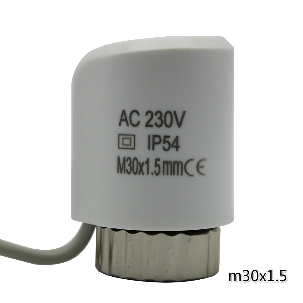 white normally open normally close thermal actuator electric thermal actuator valve for underfloor heating radiator  230 24v normally open thermal electric actuator for manifold in flooring heating system parts 230v radiator valve underfloor thermostat