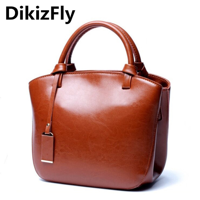 DikizFly BRAND high quality leather Handbags women Shoulder bags OL women  bags ladies favourite handle bag 20f5fdb53ff69
