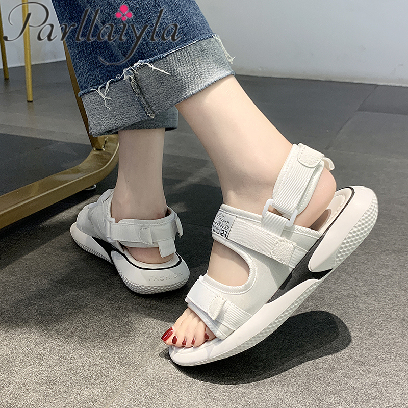2019 Women's Sandals Platform Sandalia Feminina Summer New Women'S Shoes Ladies Sandal Casual Chunky Woman Shoes wedge heel 3cm