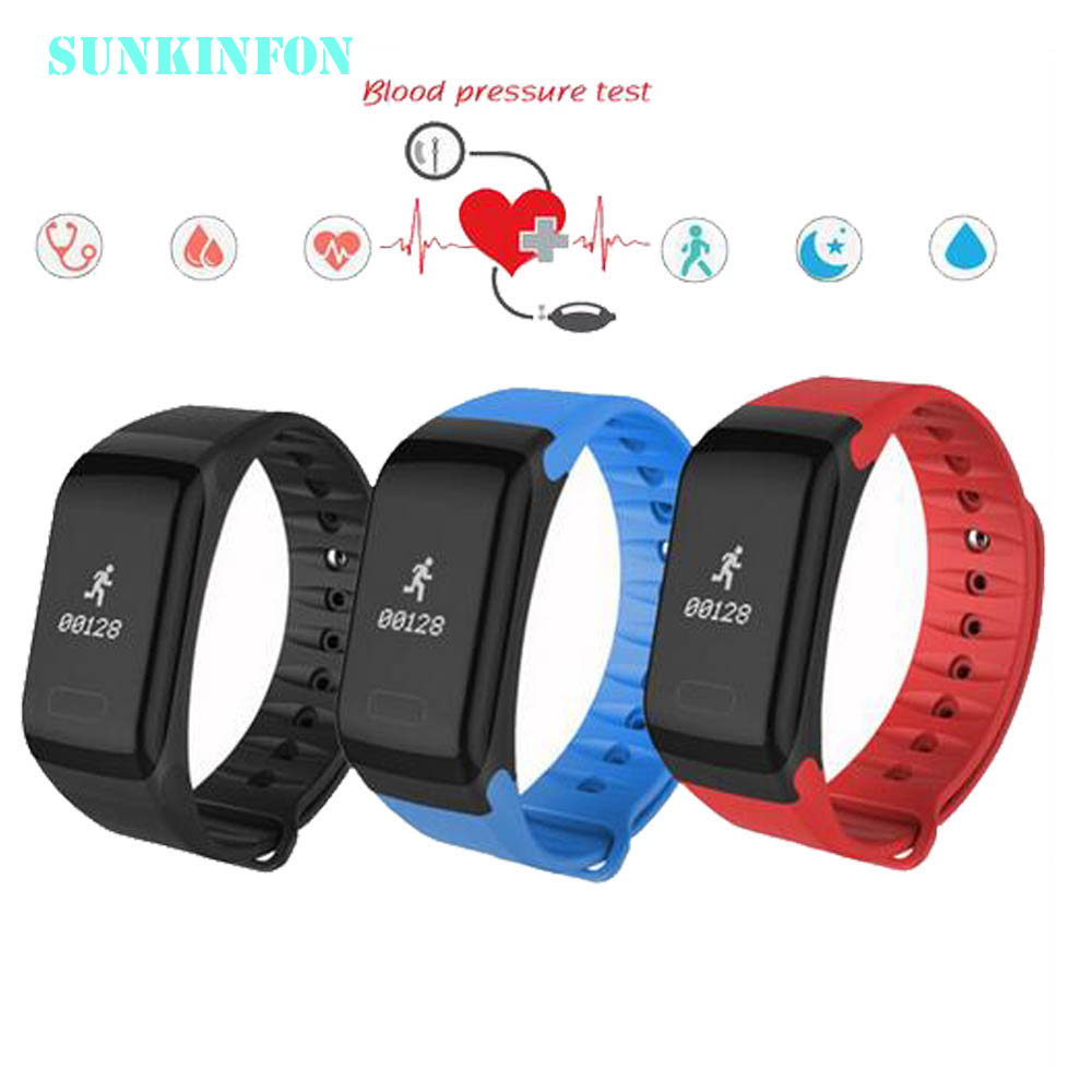 S-KF1 Watch Blood Pressure Fitness Bracelet Pulsometer Sport Heart Rate Bracelet Waterproof Pedometer Bluetooth Fitness Tracker