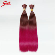 Colorful Sleek Hair Extension 100% Human hair The Best 10A Quality Bulk Hair Ombre Brazilian hair 2PCS/lot