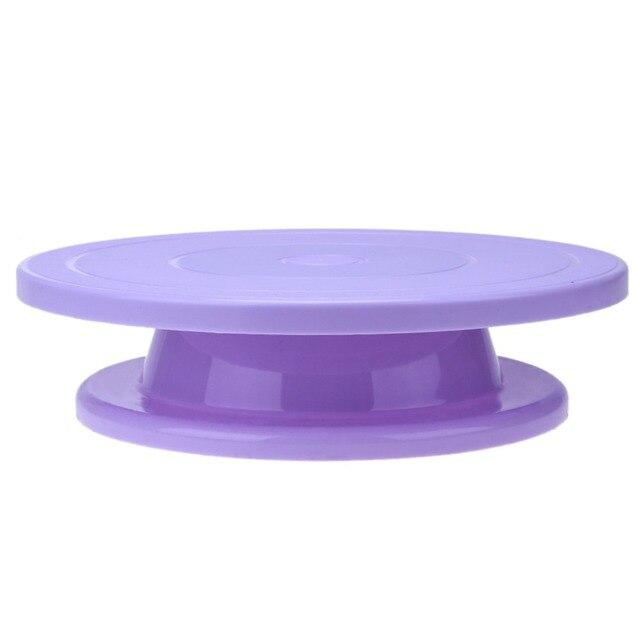 28cm Plastic Cake Turntable Rotating Anti-skid Cake 5