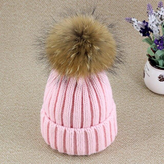 Pro Raccoon Dog Fur Ball Floss Hat Women Casual Cap Winter Autumn Multi-Colors Pink White Hat Gray Skullies Beanies Street Hat