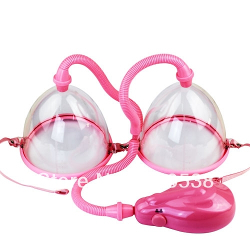 Electric Breast pump Breast Enhancer Dual Cup Enlargement Bust Massager Medical Themed Toys