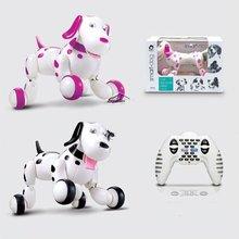 Модные игрушки для детей лучший подарок 2,4G беспроводной пульт дистанционного управления умная собака электронный питомец Развивающие детские игрушки Робот собака