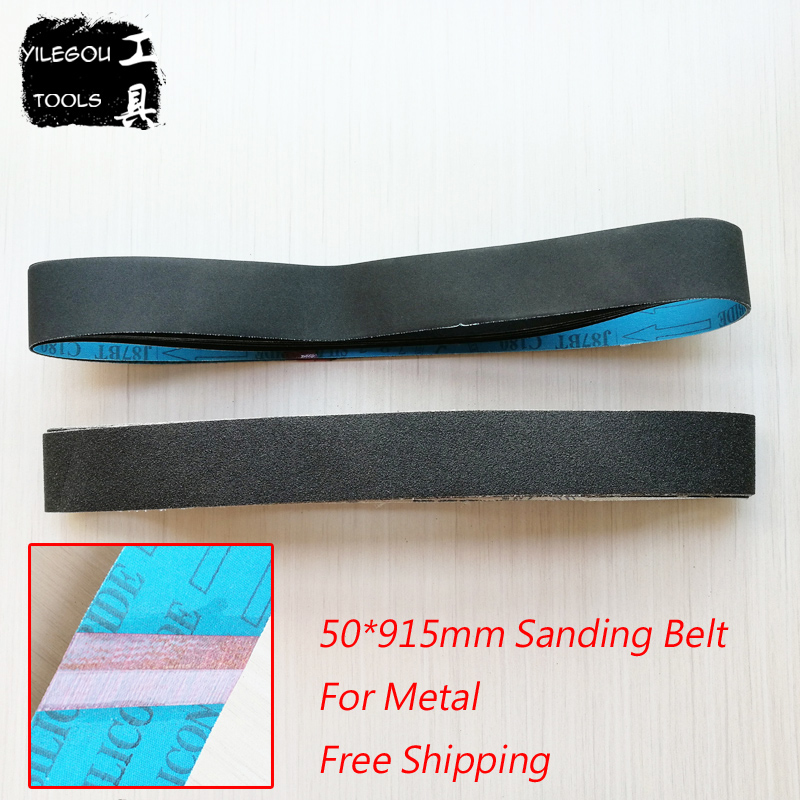 5 Pieces 50 * 915mm Sanding Belt 915*50mm Carborundum Sanding Screen For Metal 50*915mm Sanding Bands With Grit 100 180 240 320