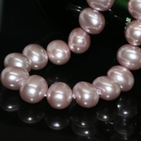Approx oval natural purple shell pearl 13*15mm fine jewelry findings fit bracelet necklace women smooth loose beads 15inch B2270