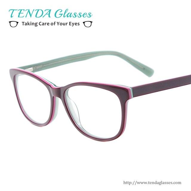 Мода Ацетат Женщины Очки Небольшой Размер Овальные Очки Кадров Для Оптических Линз Близорукость Чтения