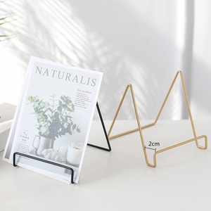 Iron Art Display Stand Dish Rack Plate Bowl Picture Frame Photo Book Pedestal Holder Home Decoration