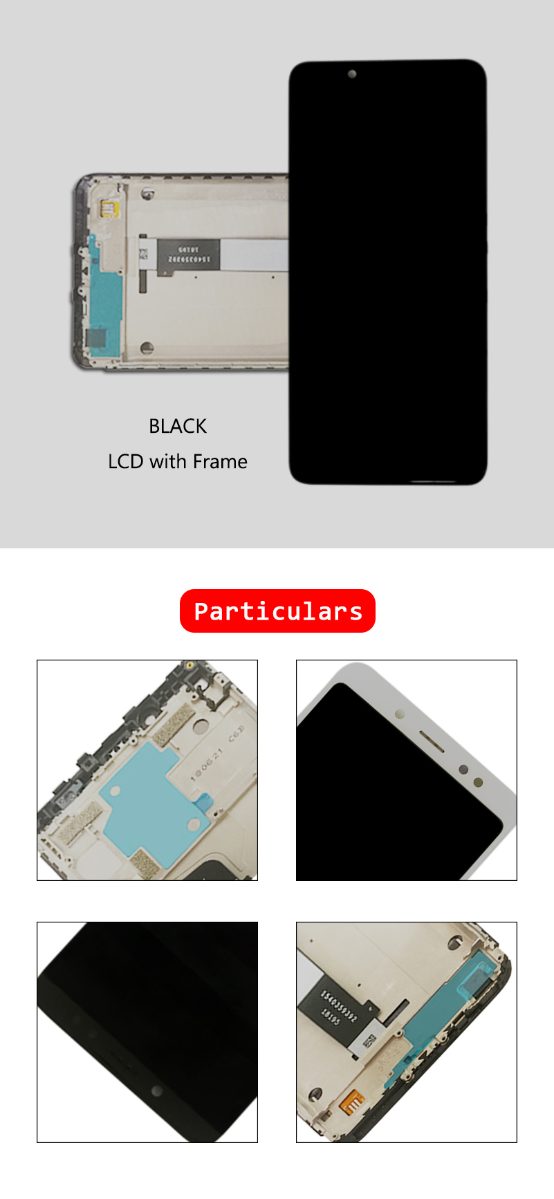 HTB1P4OyazzuK1Rjy0Fpq6yEpFXal 10-Touch AAA Quality LCD+Frame For Xiaomi Redmi Note 5 Pro LCD Display Screen Replacement For Redmi Note 5 LCD Snapdragon 636