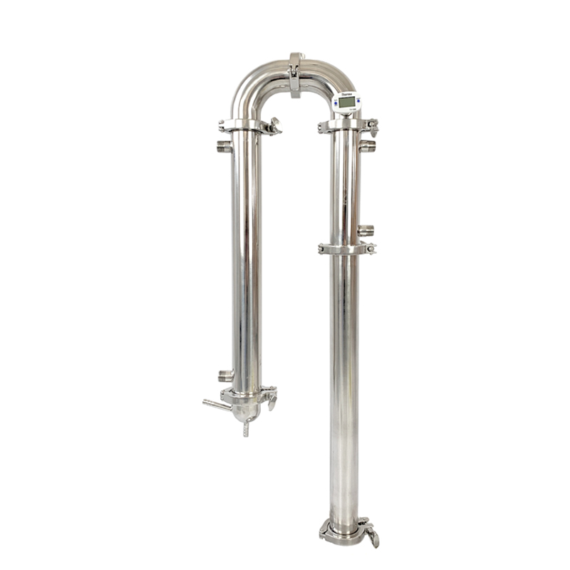 """Pince 2 """"(51mm) OD64mm Reflux tour, distillateur, colonne pour distillation, Moonshine still, sanitaire acier 304"""