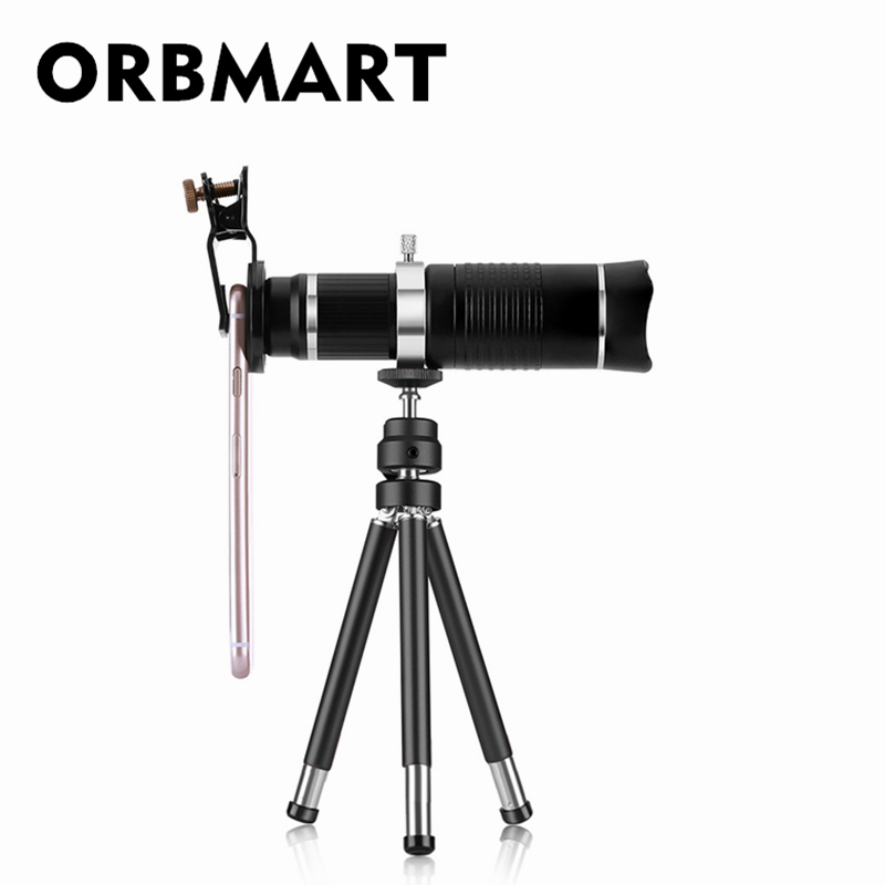 ORBMART 26x HD Fixed Focus Telephoto Telescope Mobile Phone Lense Universal Clip with Collection Bag For iPhone SAMSUNG PhoneORBMART 26x HD Fixed Focus Telephoto Telescope Mobile Phone Lense Universal Clip with Collection Bag For iPhone SAMSUNG Phone