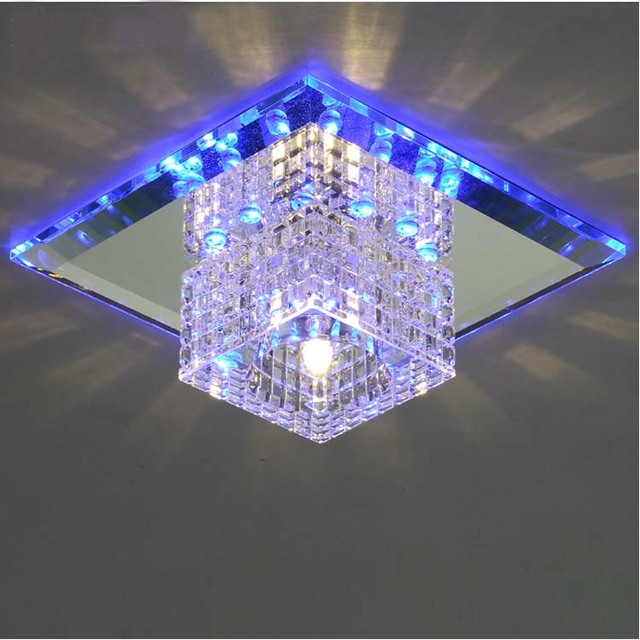 Modern flush mount crystal light fixture led crystal lamp house ...