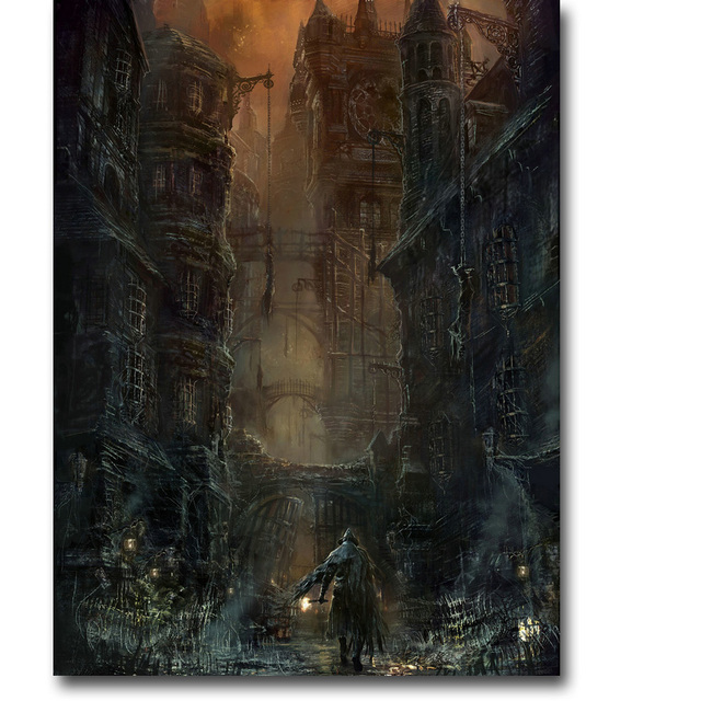 Шелковый Плакат Гобелен Игра Bloodborne Вариант 11