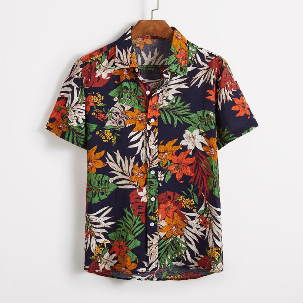 2019 <font><b>Short</b></font> <font><b>Sleeve</b></font> <font><b>Shirt</b></font> <font><b>Men</b></font> Casual Tropical <font><b>Shirts</b></font> Summer Beach Printing Vertical <font><b>Striped</b></font> Male Blouse Streetwear Drop shipping C image