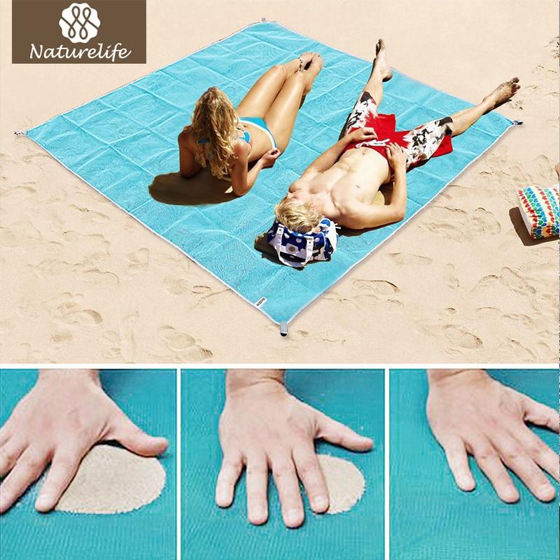 Naturelife arena envío playa Azul portátil playa alfombra antideslizante alfombras de arena alfombra estera al aire libre para la playa apoyo envío de la gota