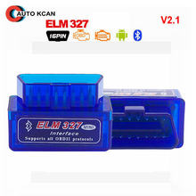 Super MINI elm327 Bluetooth V2.1 elm 327 fonctionne Interface de couple Android Auto CAN-BUS ELM327 prend en charge les protocoles OBDII(China)