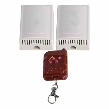2CH 433Mhz luz interruptor de Control remoto botones ABCD AC220V w/destornillador