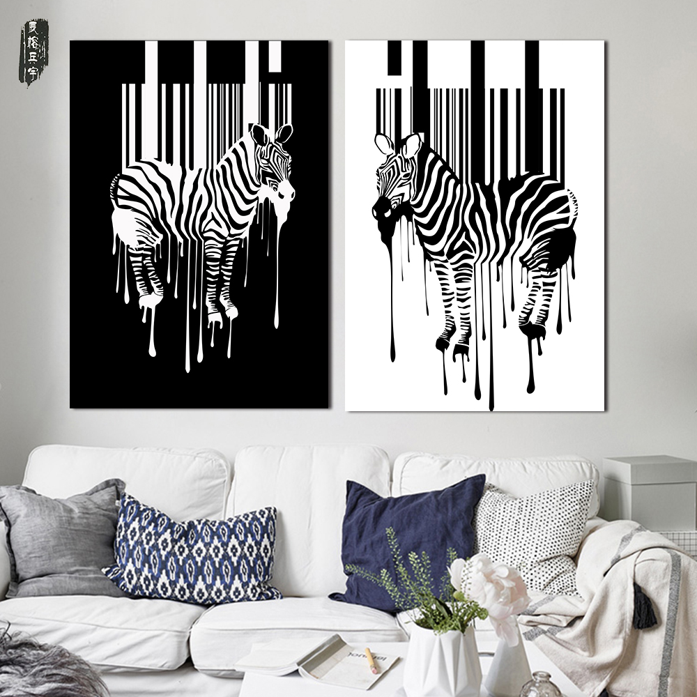 Exceptional Black And White Painting Abstract Animal Wall Art Zebra Home Decor Posters  And Prints Nordic Canvas Pictures For Living Room In Painting U0026 Calligraphy  From ...