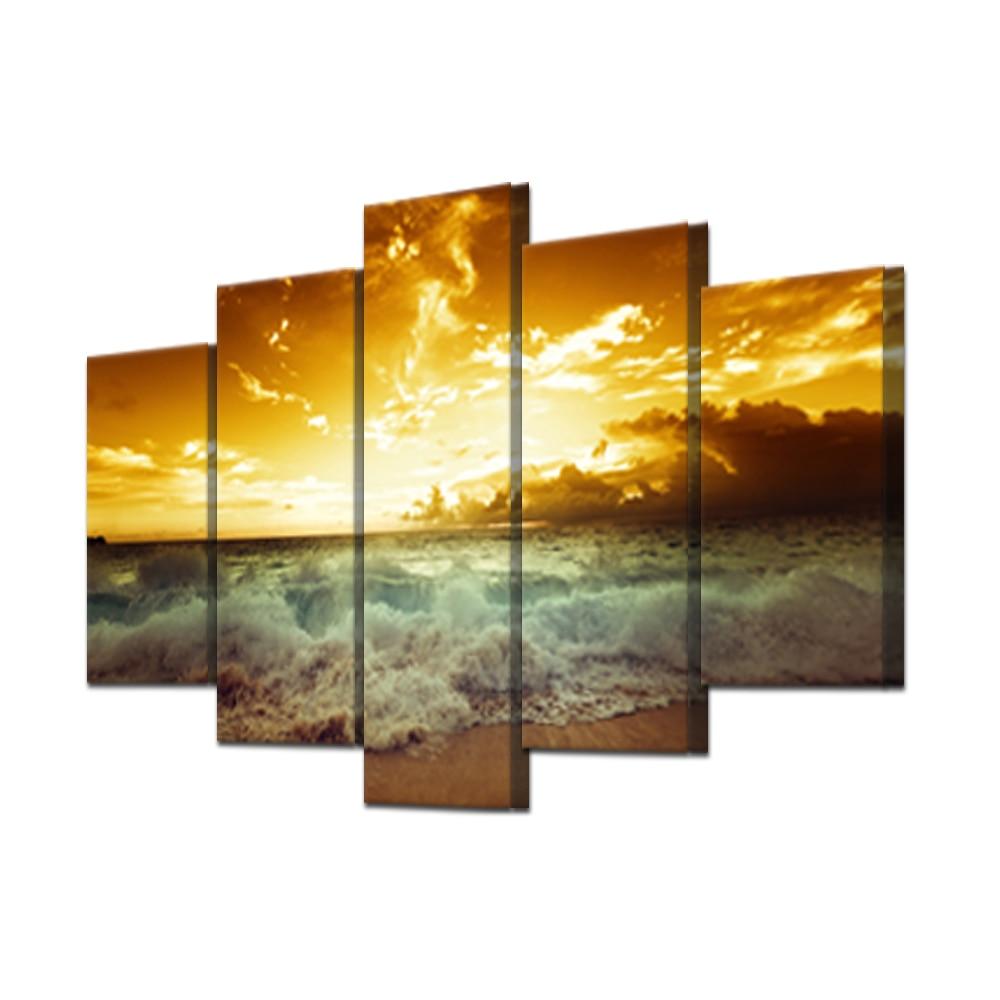 Sin marco Marea pintura mar playa modular imágenes del paisaje óleo ...